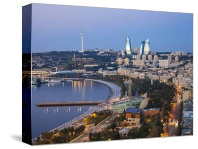 Azerbaijan, Baku, View of City Looking Towards the Baku Business Center on the Bulvur