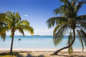 Beach in North of island, Hope Town, Elbow Cay, Abaco Islands, Bahamas, West Indies, Central Americ by Jane Sweeney