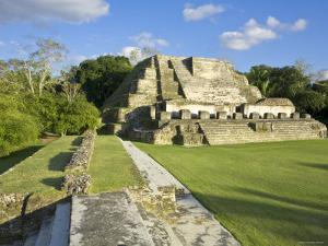 Belize, Altun Ha, Temple of the Masonary Alters by Jane Sweeney