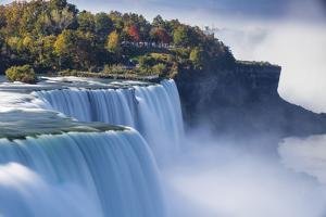 Canada and USA, Ontario and New York State, Niagara, Niagara Falls, the American and Canadian Falls by Jane Sweeney