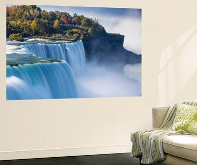 Canada and USA, Ontario and New York State, Niagara, Niagara Falls, the American and Canadian Falls