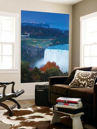Canada and USA, Ontario and New York State, Niagara, Niagara Falls, View of Horseshoe Falls