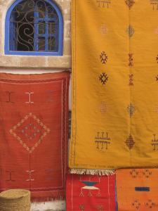 Carpets Hanging Outside Shop in the Medina, Essaouira, Morocco, North Africa, Africa by Jane Sweeney