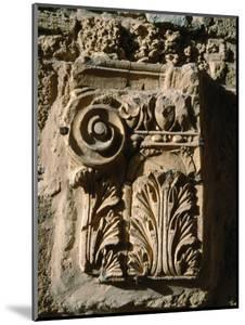 Carved Detail at Antonine Baths, Carthage, L'Ariana, Tunisia by Jane Sweeney