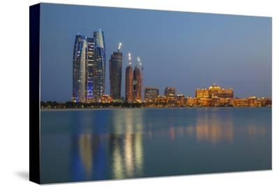 City Skyline Looking Towards the Emirates Palace Hotel and Etihad Towers