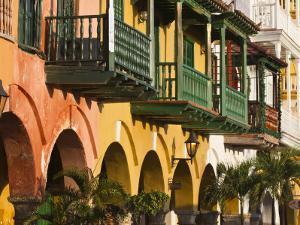 Colombia, Bolivar, Cartagena De Indias, Plaza De La Coches, Plaza De Esclavo, Portal De Les Dulces by Jane Sweeney