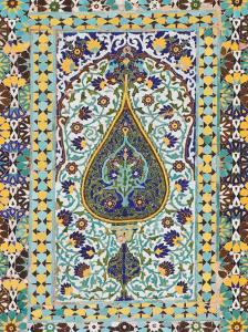 Detail of Tilework, Friday Mosque (Masjet-Ejam), Herat, Herat Province, Afghanistan by Jane Sweeney