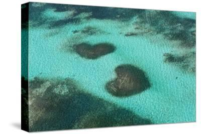 Dominican Republic, Punta Cana, Bavaro, View of Two Heart Shaped Reefs