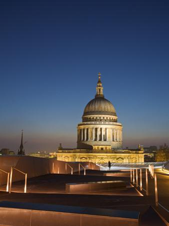 England, London, City of London, St Paul's Cathedral from One New Change Shopping Center Rooftop by Jane Sweeney