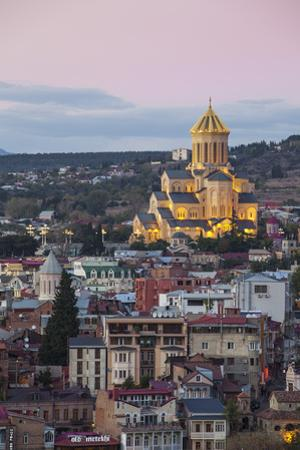 Georgia, Tbilisi,Avlabari, Tsminda Sameba Cathedral (Holy Trinity Cathedral) by Jane Sweeney