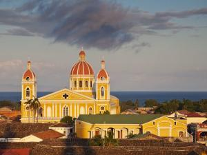 Granada, View of Cathedral De Granada from Iglesia De La Merced, Nicaragua by Jane Sweeney