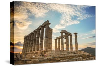 Greece, Attica, Cape Sounion, Temple of Poseidon