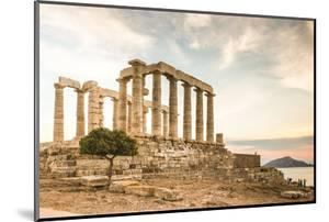 Greece, Attica, Cape Sounion, Temple of Poseidon by Jane Sweeney
