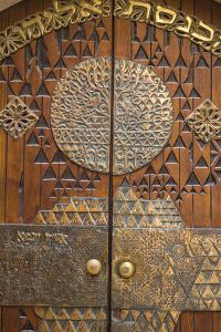 Israel, Jerusalem, Jewish Quarter, Synagogue door by Jane Sweeney