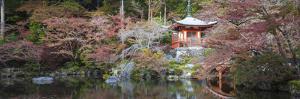 Japan, Kyoto, Daigoji Temple, Bentendo Hall and Bridge by Jane Sweeney