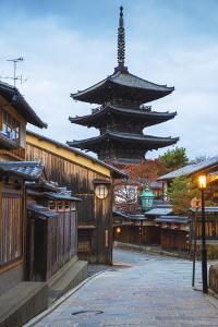 Japan, Kyoto, Higashiyama District, Gion, Yasaka Pagoda in Hokanji Temple by Jane Sweeney