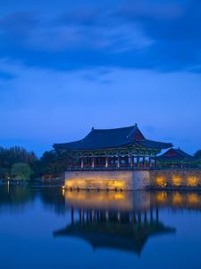 Korea, Gyeongsangbuk-Do, Gyeongju, Anapji Pond by Jane Sweeney