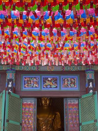 Korea, Seoul, Gangnam, Bongeunsa Temple, Lanterns, Lotus Lantern Festival Celebrations for Bhuddda'