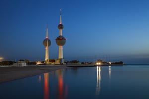 Kuwait Towers at Dawn, Kuwait City, Kuwait, Middle East by Jane Sweeney