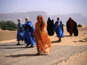 Local People Travel the Road Between Nouadhibou and Mouackchott, Mauritania by Jane Sweeney