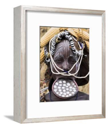 Mursi Lady with Lip Plate, South Omo Valley, Ethiopia, Africa