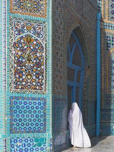 Pilgrim at the Shrine of Hazrat Ali, Mazar-I-Sharif, Balkh, Afghanistan, Asia by Jane Sweeney