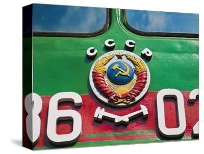 Russia, St Petersburg, Locomotives at the Railway Museum