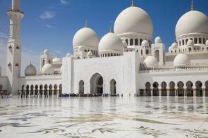 Sheikh Zayed Grand Mosque, Abu Dhabi, United Arab Emirates, Middle East by Jane Sweeney