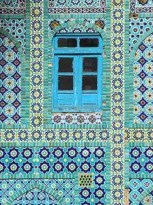 Tiling Around Blue Window, Shrine of Hazrat Ali, Mazar-I-Sharif, Balkh, Afghanistan, Asia by Jane Sweeney