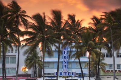 U.S.A, Miami, Miami Beach, South Beach, Art Deco Hotels on Ocean Drive by Jane Sweeney