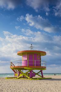 U.S.A, Miami, Miami Beach, South Beach, Life Guard Beach Hut by Jane Sweeney