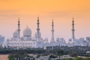 United Arab Emirates, Abu Dhabi, Sheikh Zayed Grand Mosque by Jane Sweeney