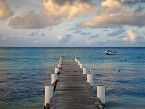 Venezuela, Archipelago Los Roques National Park, Gran Roque, Pier by Jane Sweeney