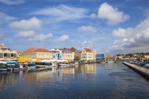 Venezuelan Boats at the Floating Market, Punda, UNESCO World Heritage Site, Willemstad, Curacao by Jane Sweeney