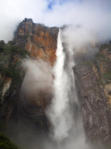 View of Angel Falls From Mirador Laime, Canaima National Park, Guayana Highlands, Venezuela by Jane Sweeney
