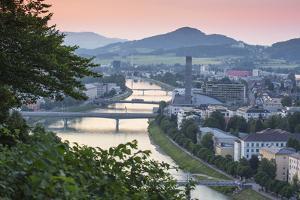 View of Salzach River, Salzburg, Austria, Europe by Jane Sweeney