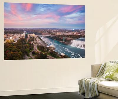 View over Victoria Park Towards Rainbow Bridge and the American Falls, Niagara Falls