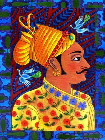 Maharaja with Blue Birds, 2011