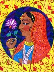 Maharani with White and Pink Flower, 2011 by Jane Tattersfield