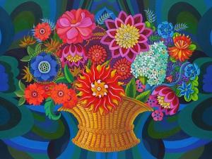 More Blooms in a Basket, 2013 by Jane Tattersfield