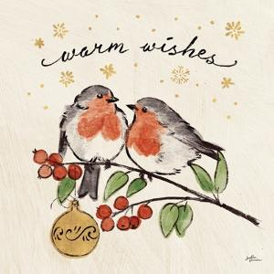 Christmas Lovebirds II by Janelle Penner