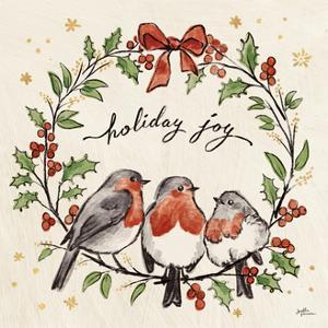 Christmas Lovebirds IV by Janelle Penner