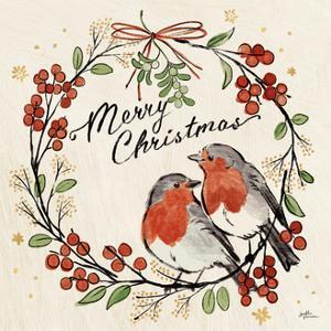 Christmas Lovebirds V by Janelle Penner