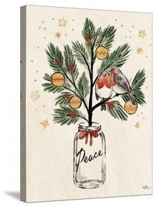 Christmas Lovebirds VI by Janelle Penner