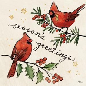 Christmas Lovebirds X by Janelle Penner