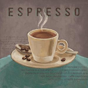 Coffee and Co III Teal and Gray by Janelle Penner