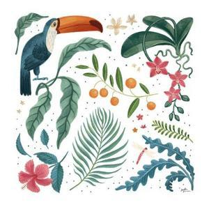 Jungle Love III White by Janelle Penner
