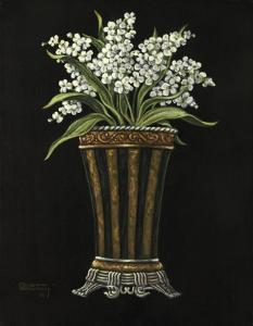Floral Noir Lilacs by Janet Kruskamp