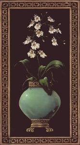 Ginger Jar With Orchids I by Janet Kruskamp