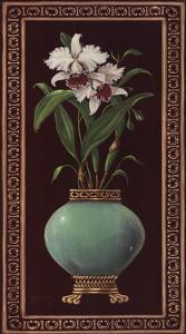 Ginger Jar With Orchids II by Janet Kruskamp